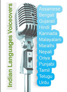 Indian language voiceovers